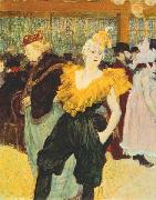 The clown Cha U Kao at the Moulin Rouge Henri de toulouse-lautrec